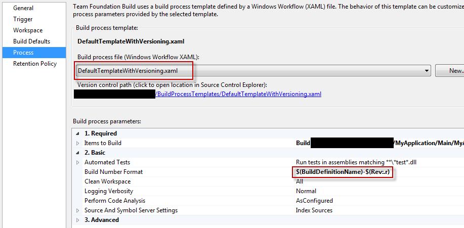 build process tab
